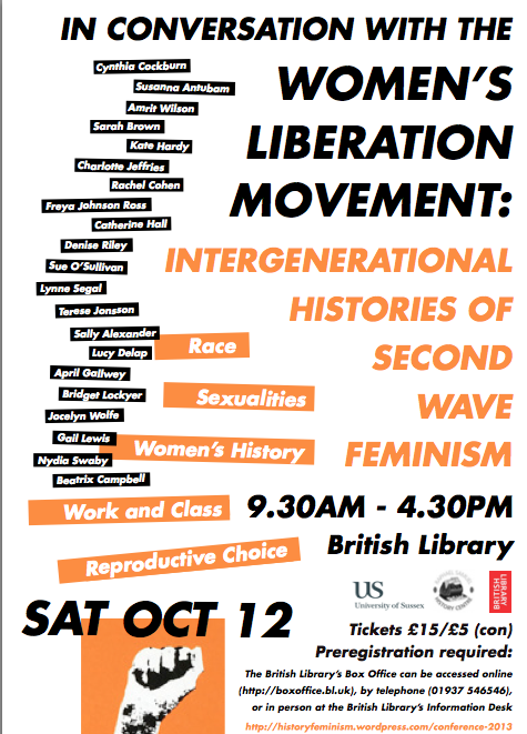 The History of Feminism Network's gorgeous conference poster is released