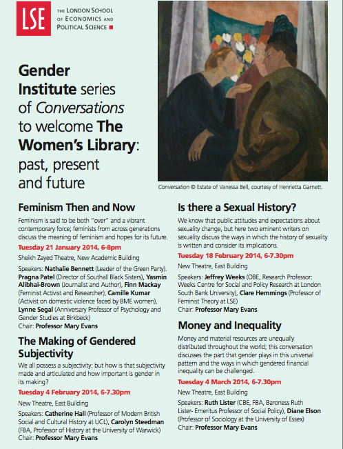 Upcoming: LSE Gender Institute and The Women's Library Conversations